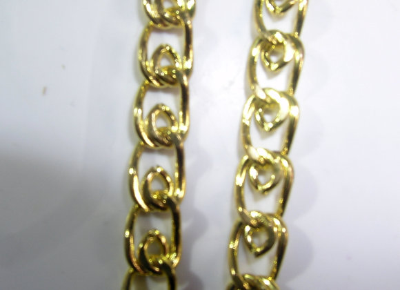"""Goldplated Snail Chain - 18.5"""""""