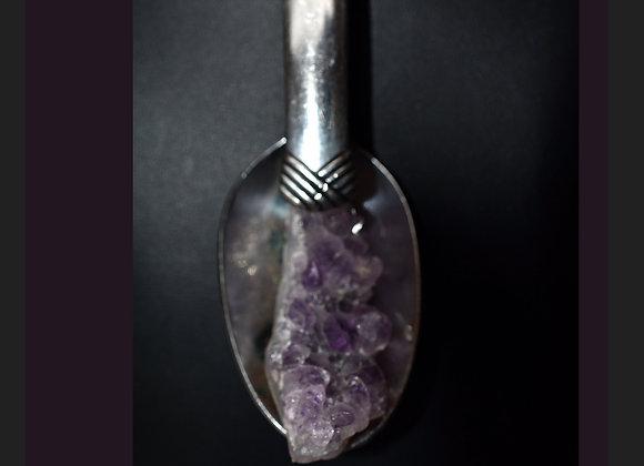 SilverWare-It-All Amethyst Geode in Deco-Design Spoon