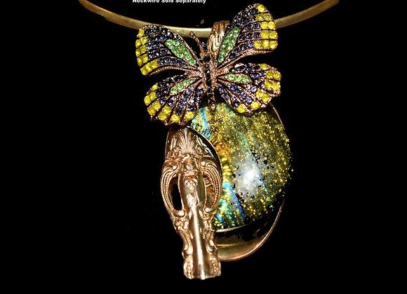 SilverWare-It-All Glittering Green Half-Moon & Butterfly Surprise!