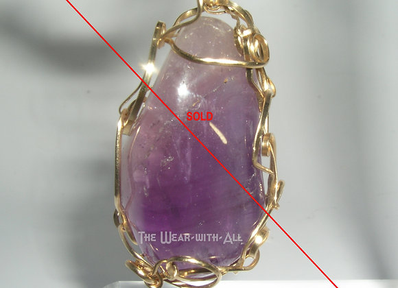 Amethyst Sculpted with Goldfilled Wire