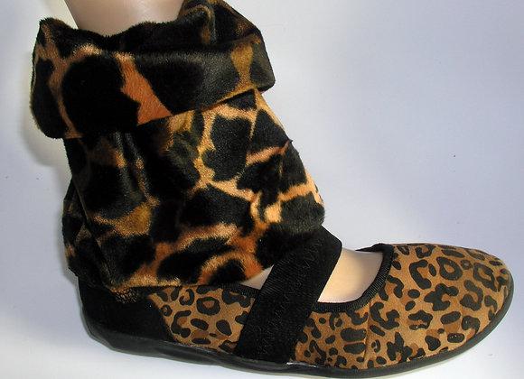 Leopard Print Foldover Shoe Flirts