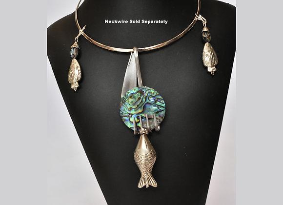 SilverWare-It-All Abalone Fish Fork Set