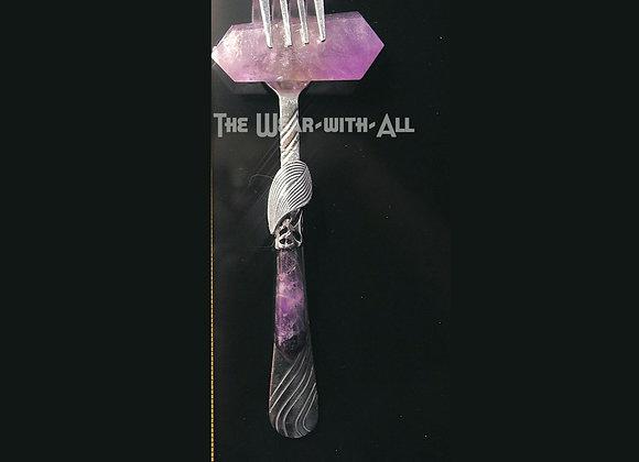 SilverWare-It-All Double Amethyst Fork Pendant