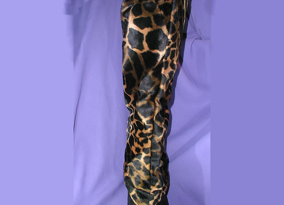 Zippered Leopard Boot Covers