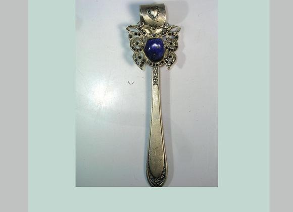 SilverWare-It-All Lapis & Marcasite Butterfly Knife Pendant & Earrings
