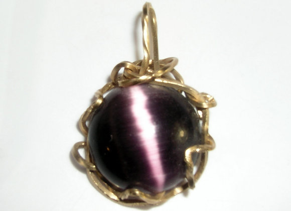 Purple Cat's Eye Sweet Pendant