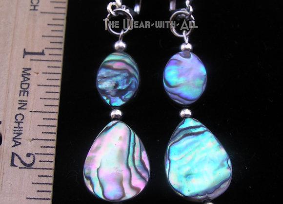 Abalone Teardrop & Oval Earrings