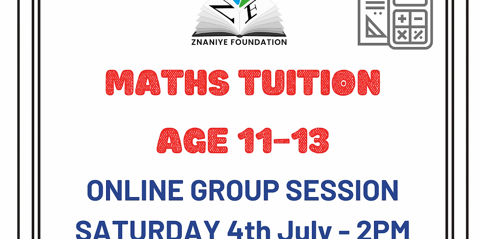 Maths for Age 11-13 - English