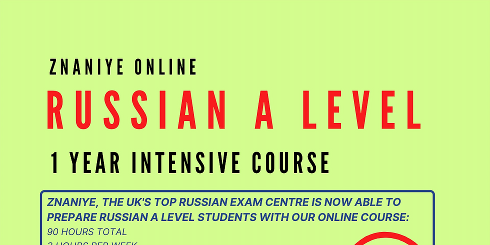 Russian A Level 1 Year Intensive Course