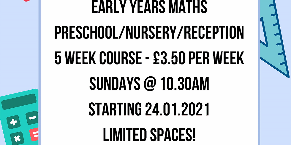 Maths for Early Years (PreSchool, Nursery and Reception) with Suzy