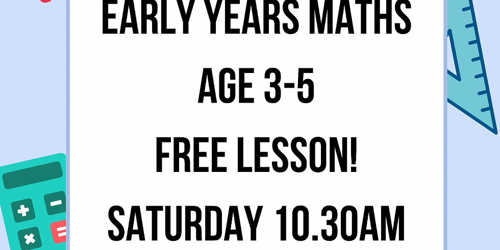 FREE Early Years Maths - (Age 3-5) with Suzy