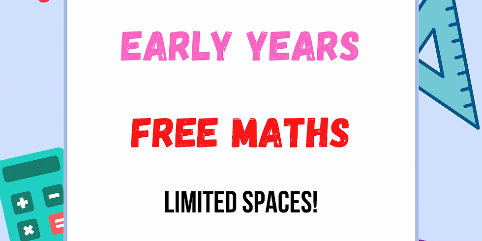 Free Maths for Early Years (PreSchool, Nursery and Reception) with Suzy