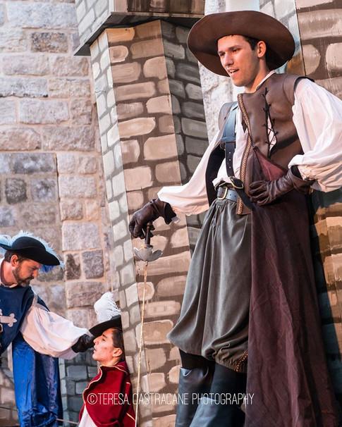 d'Artagnan, Athos (Kevin Brown) & Guard (Stephen Lopez)