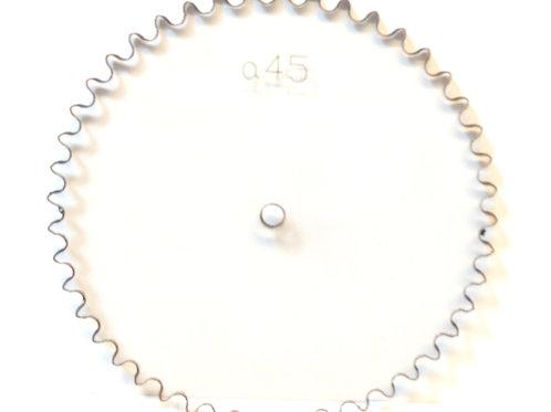 Catarina paso 25  de policarbonato para cadena paso 25 , 45 dientes serieA