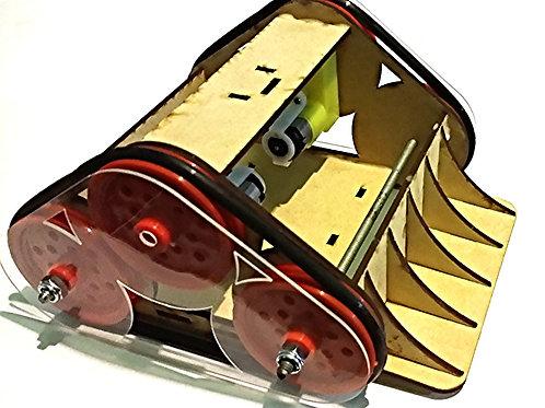 Robot sumo chasis (tracción por banda)