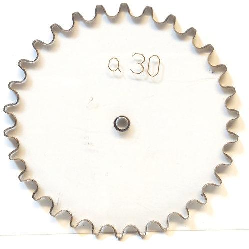 Catarina de policarbonato para cadena paso 25  30 dientes serieA