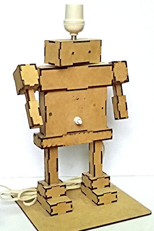 Lampara con forma de Robot