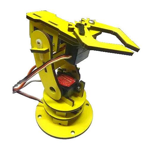 Micro brazo robotico SERVIX YELLOW (KIT COMPLETO)