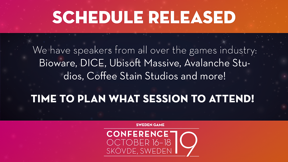 Plan your week at Sweden Game Conference 2019 in Skövde