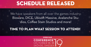 Plan your Sweden Game Conference 2019! The official session schedule is announced