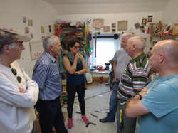 The men visited my studio as part of a visual art tour of Wexford Arts Centre
