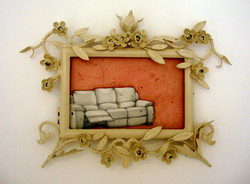 'Souvenir' (ii) 2009 Oil on found frame 19 x 15 cms