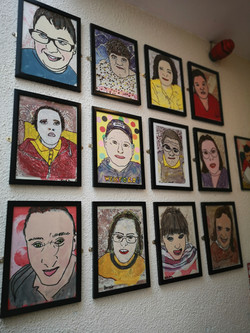 The clients at Beta unit, as painted by their carers, with help from themselves.