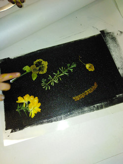 Learning to print using live plants