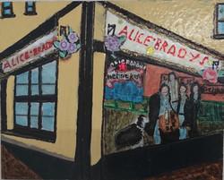 Alice Brady's Pub in the centre of the village