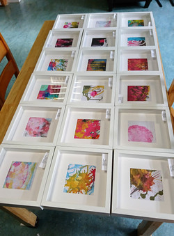 The prints, ready to be hung
