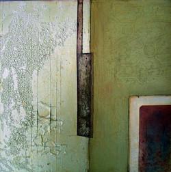 'Shutter' 2007. Oil on board. 45 x 45cms