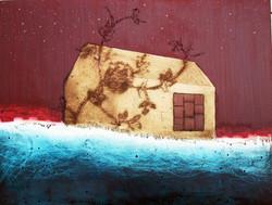 'Seahouse' 2007. Oil on Board 50 x 35cms