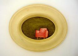 'Souvenir' (iii). 2009.  Oil on found frame 25 x 20cms