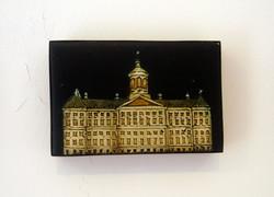 Dutch Royal Palace 2009 Oil on board. 10 x 7cms