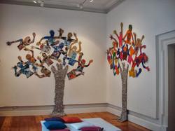 Lifesize Trees with cutout kids. Card, p