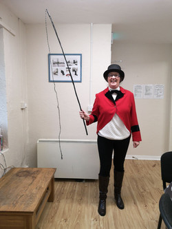 Mary, the centre manager, dresses as the ringmaster