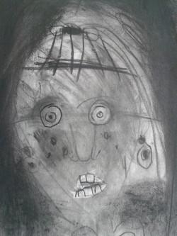 Children's work in Progress. Self Portra