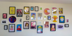 A selection of the work, framed at the centre