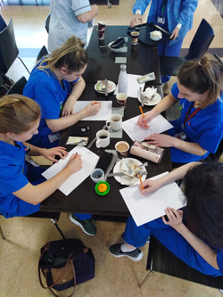Radiology students take part in the Staf