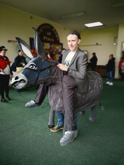Donkey rider Ray O Brien, Community worker