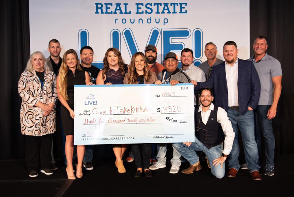 Give & Take Kitchen accepted a check from Mississippi Home Buyers at the Real Estate Roundup Event