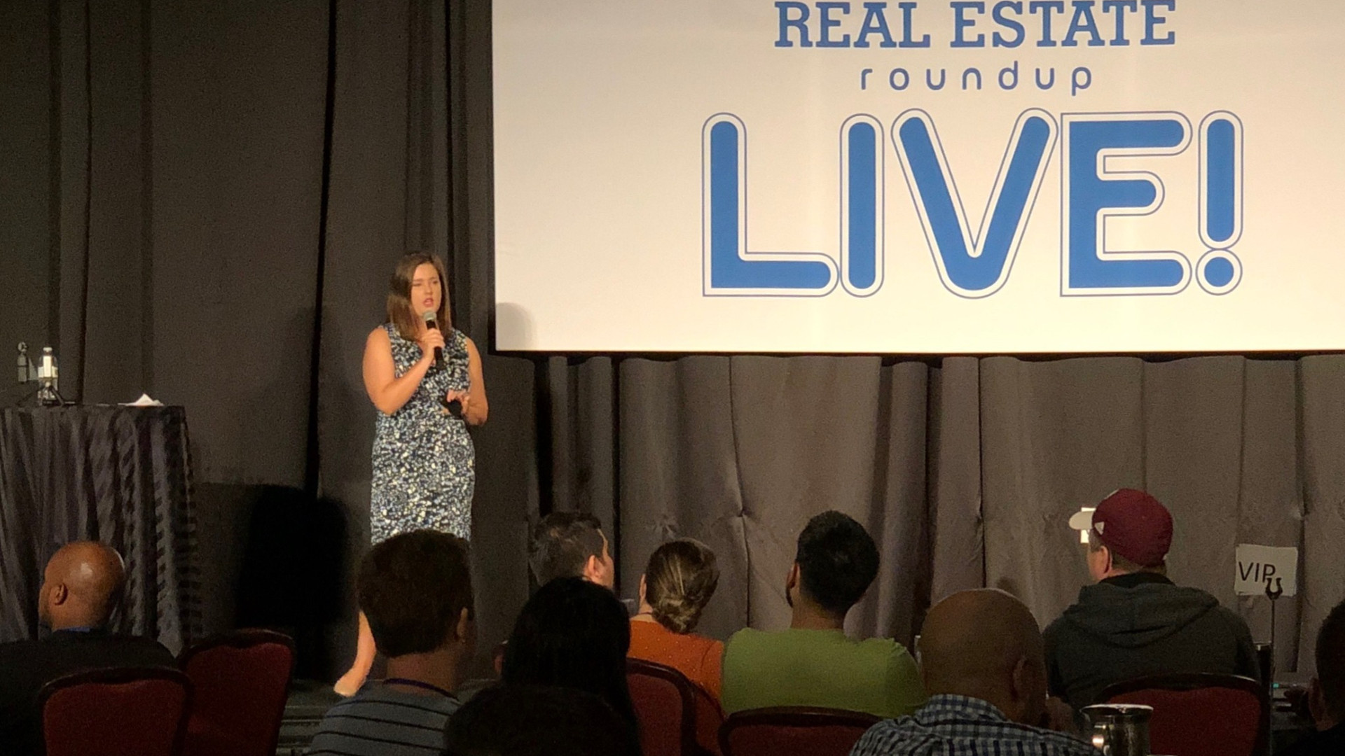 Our Founder Kelsey Steffens speaking at the Real Estate Roundup Event