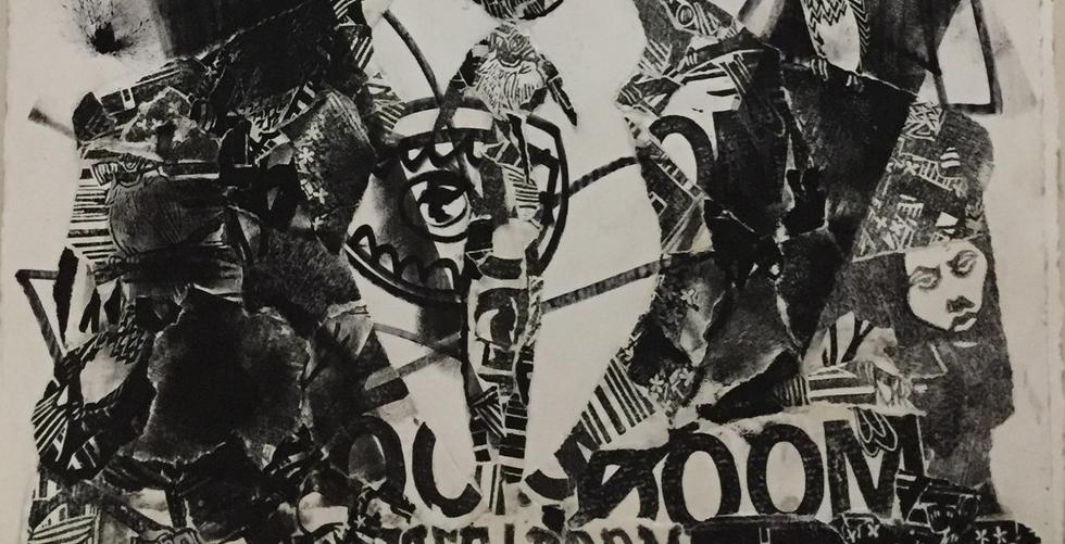 Mr. FreeDoom Linoleum Block Art Print