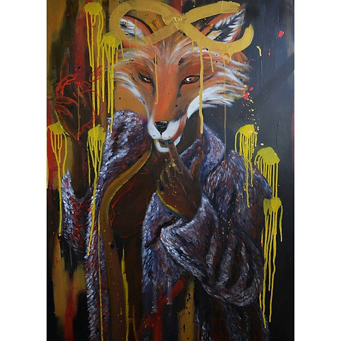 """She was Crazy like a Fox"" Artist's Print"
