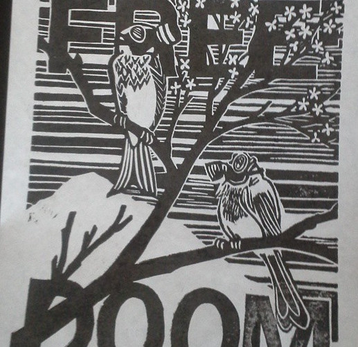 Linoleum Block Art Print