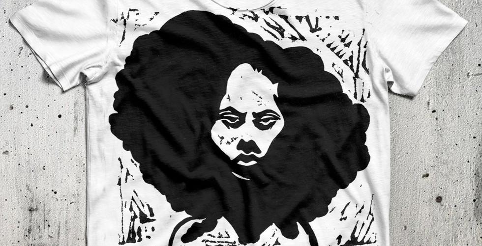 Not Impressed Linoleum Block Art Print on T-Shirt