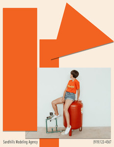 Fashion Editorial Page created for NC Fashion Week
