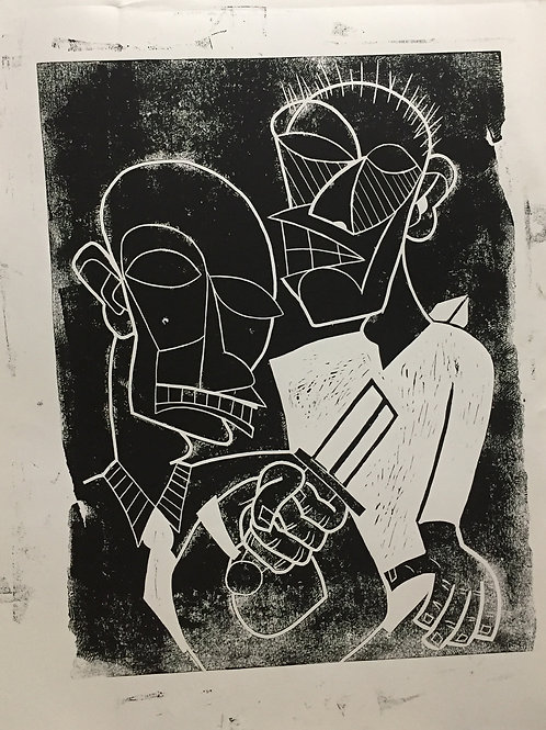 """Generational Hatred"" Handmade Print"