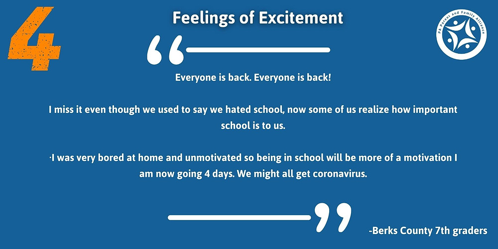 Quotes Saying: Everyone is back. Everyone is back!  I miss it even though we used to say we hated school, now some of us realize how important school is to us.  ·I was very bored at home and unmotivated so being in school will be more of a motivation I am now going 4 days. We might all get coronavirus.