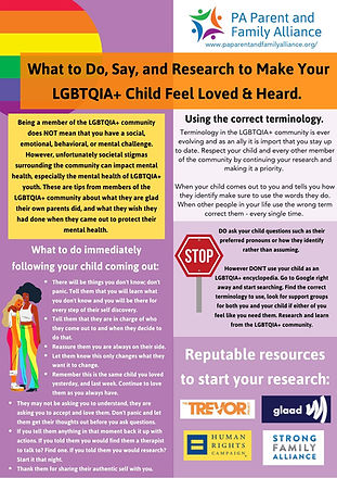 What to do, say, and research to make your LGBTQIA+ child feel loved and heard